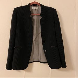 Tahari Black Striped Blazer Size 12